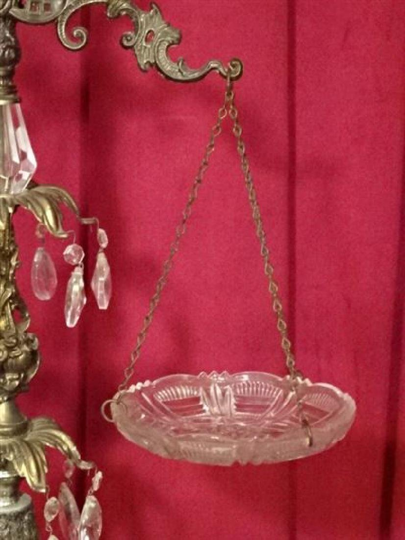 ORNATE METAL SCALE WITH CRYSTAL DROPS AND ACCENTS, VERY - 4