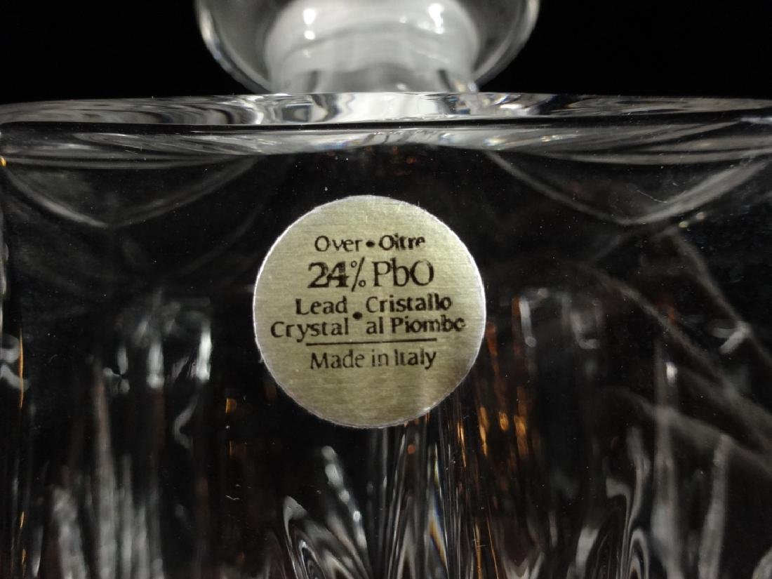 SQUARE CRYSTAL DECANTER, 24% LEAD CRYSTAL, MADE IN - 4