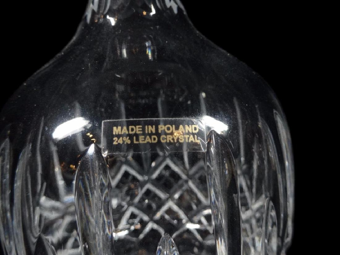 CRYSTAL DECANTER, 24 LEAD CRYSTAL, MADE IN POLAND, WITH - 3
