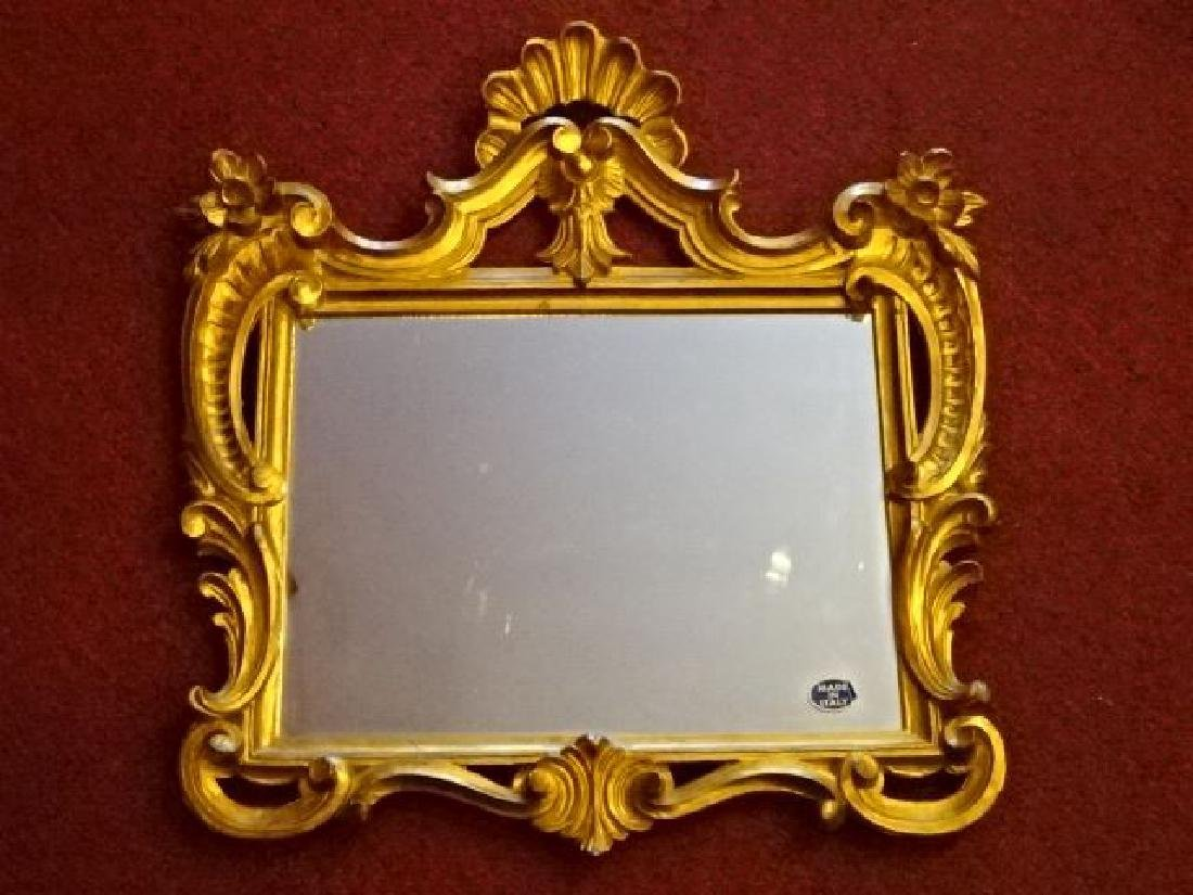 ITALIAN ROCOCO GILT WOOD MIRROR, VERY GOOD CONDITION,