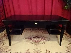 STANLEY FURNITURE CONTEMPORARY DESK, BLACK FINISH,