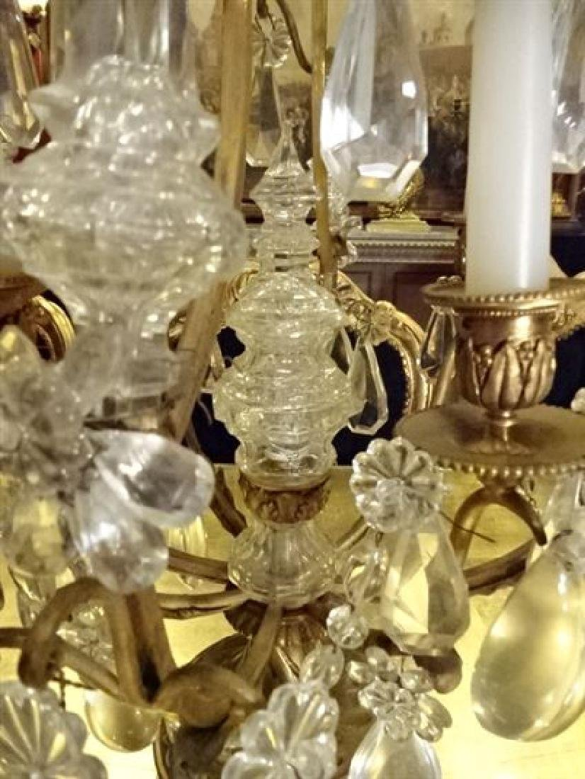 BACCARAT FRANCE CRYSTAL AND BRONZE GIRANDOLE, - 5