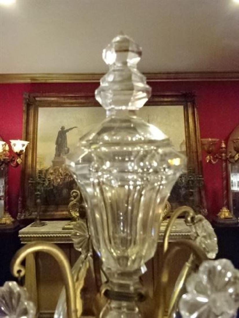 BACCARAT FRANCE CRYSTAL AND BRONZE GIRANDOLE, - 9