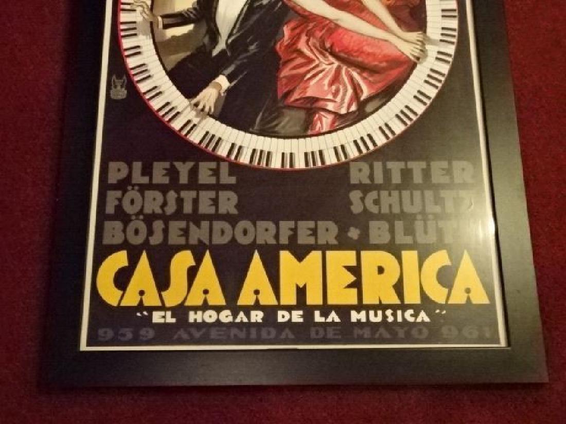 CASA AMERICA PIANOS REPLICA ADVERTISING PRINT, ORIGINAL - 4