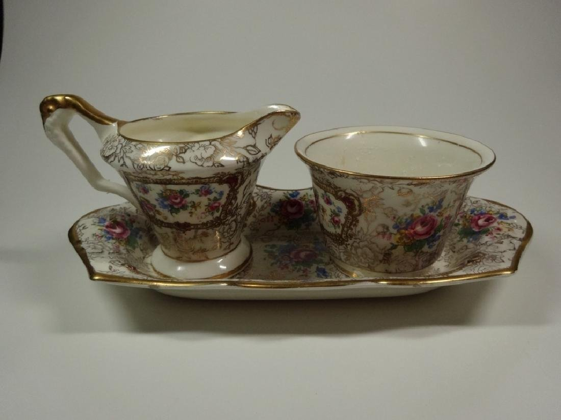 3 PC JAMES KENT LTD LONGTON PORCELAIN, POMPADOUR