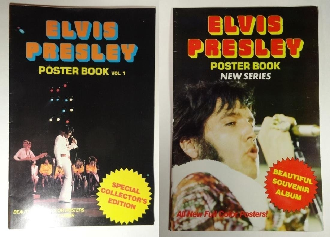2 PC ELVIS POSTER BOOKS, INCLUDES VOLUME 1 AND NEW