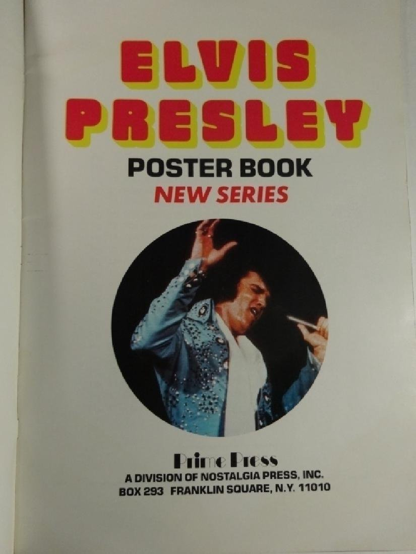 2 PC ELVIS POSTER BOOKS, INCLUDES VOLUME 1 AND NEW - 5