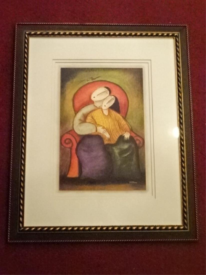 JAYMIKI SIGNED LIMITED EDITION GICLEE, DEPICTING A MAN