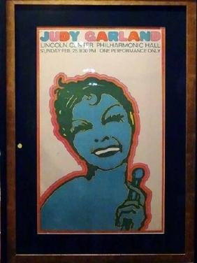 VINTAGE JUDY GARLAND LINCOLN CENTER POSTER, SEYMORE