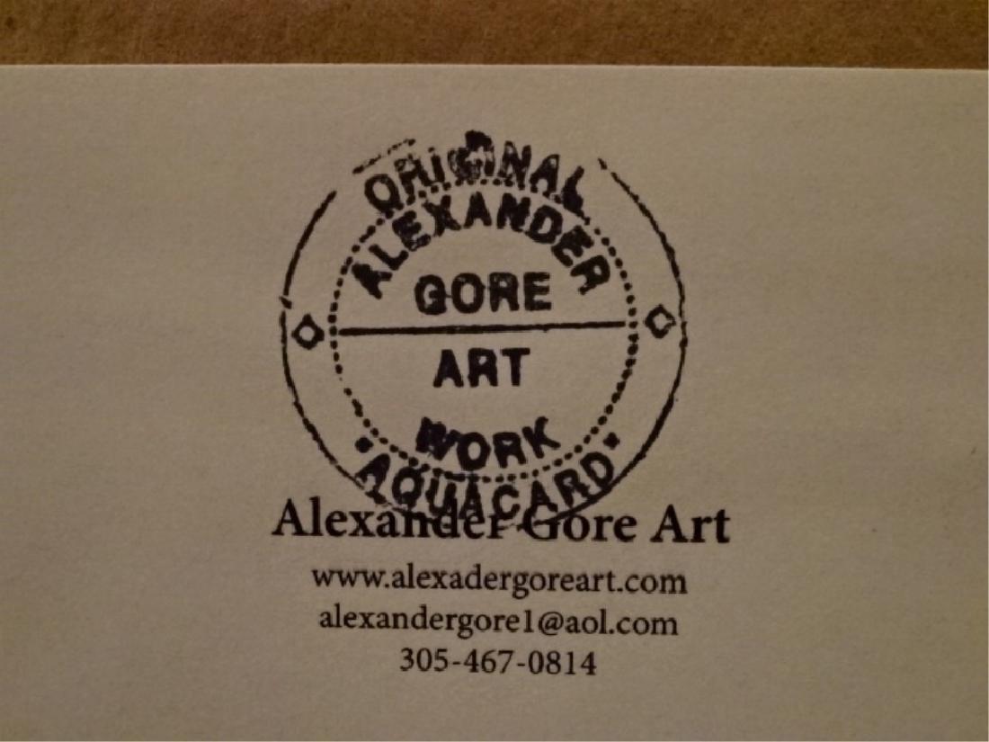 ALEXANDER GORE ORIGINAL OIL ON LINEN, ABSTRACT FIGURE, - 9