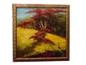 LARGE ABELLO SIGNED OIL ON CANVAS PAINTING, LANDSCAPE