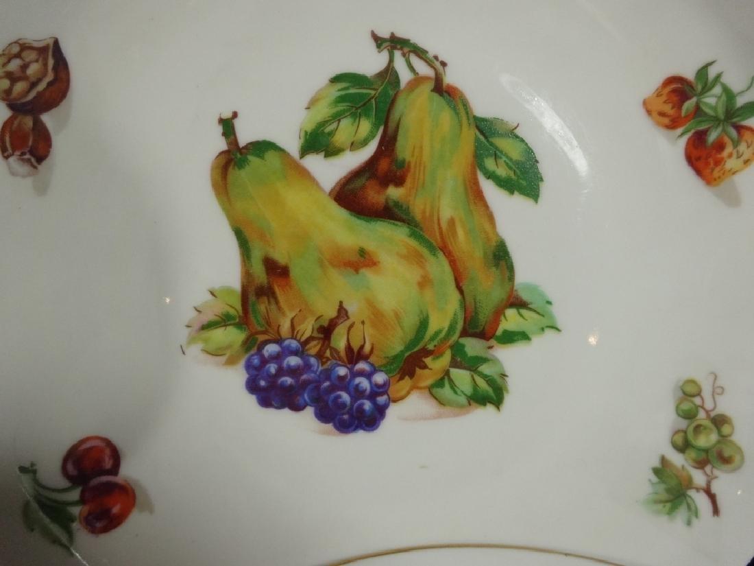 7 PC PORCELAIN FRUIT PLATES, MARKED FINE BOHEMIAN CHINA - 2