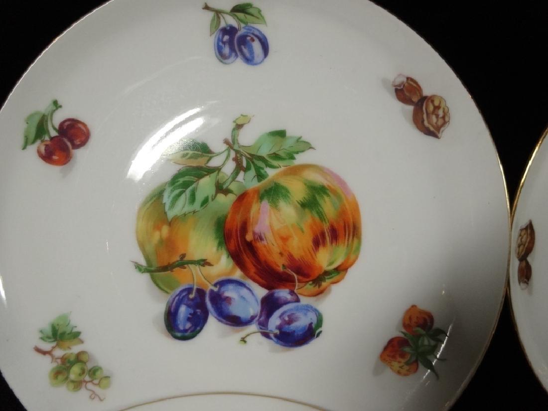 7 PC PORCELAIN FRUIT PLATES, MARKED FINE BOHEMIAN CHINA - 6