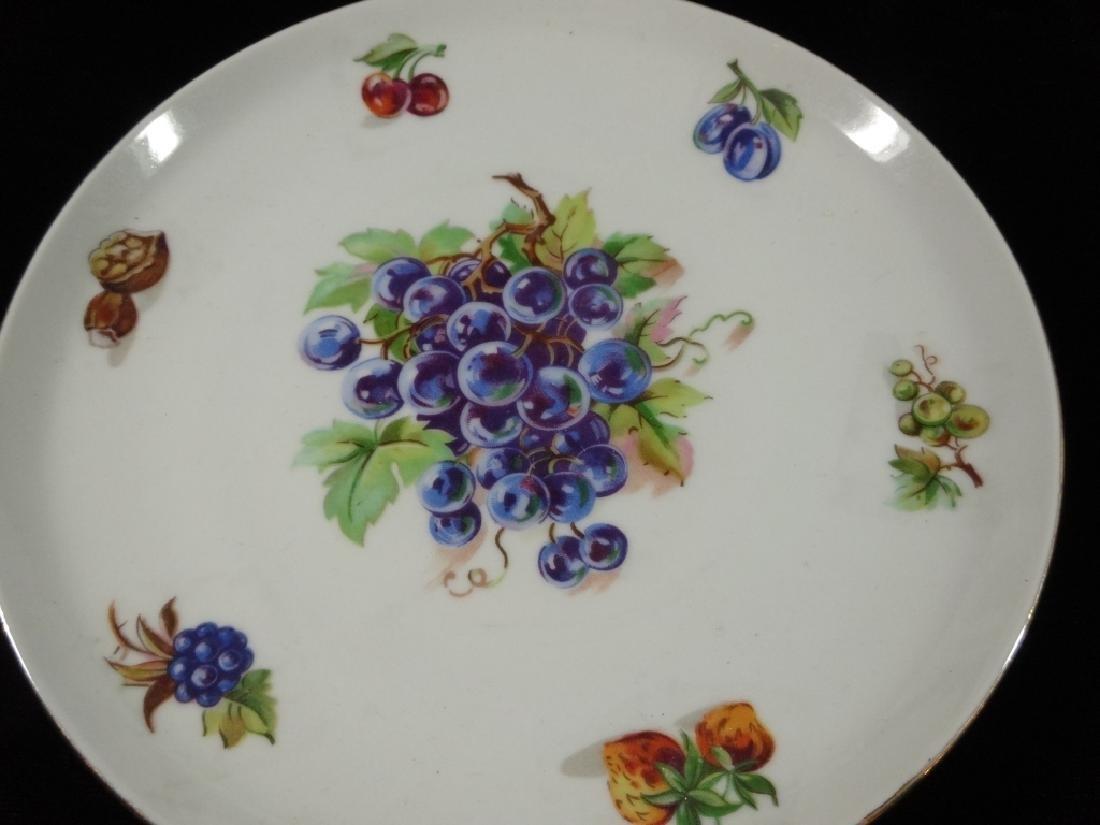 7 PC PORCELAIN FRUIT PLATES, MARKED FINE BOHEMIAN CHINA - 8