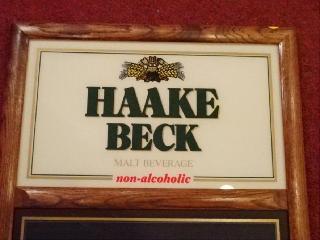 HAAKE BECK VINTAGE BAR SIGN WITH BLACK BOARD, WOOD - 2