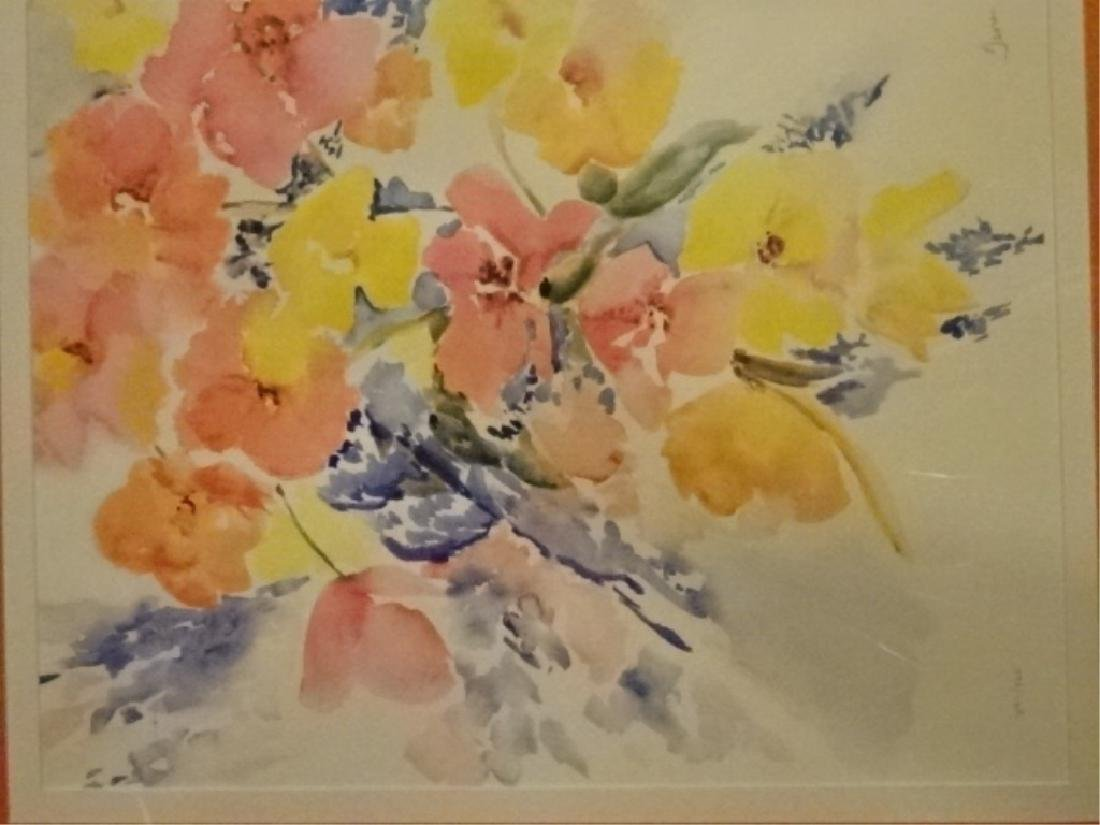 "FLORAL STILL LIFE LITHOGRAPH, PENCIL SIGNED ""TINA"" - 2"