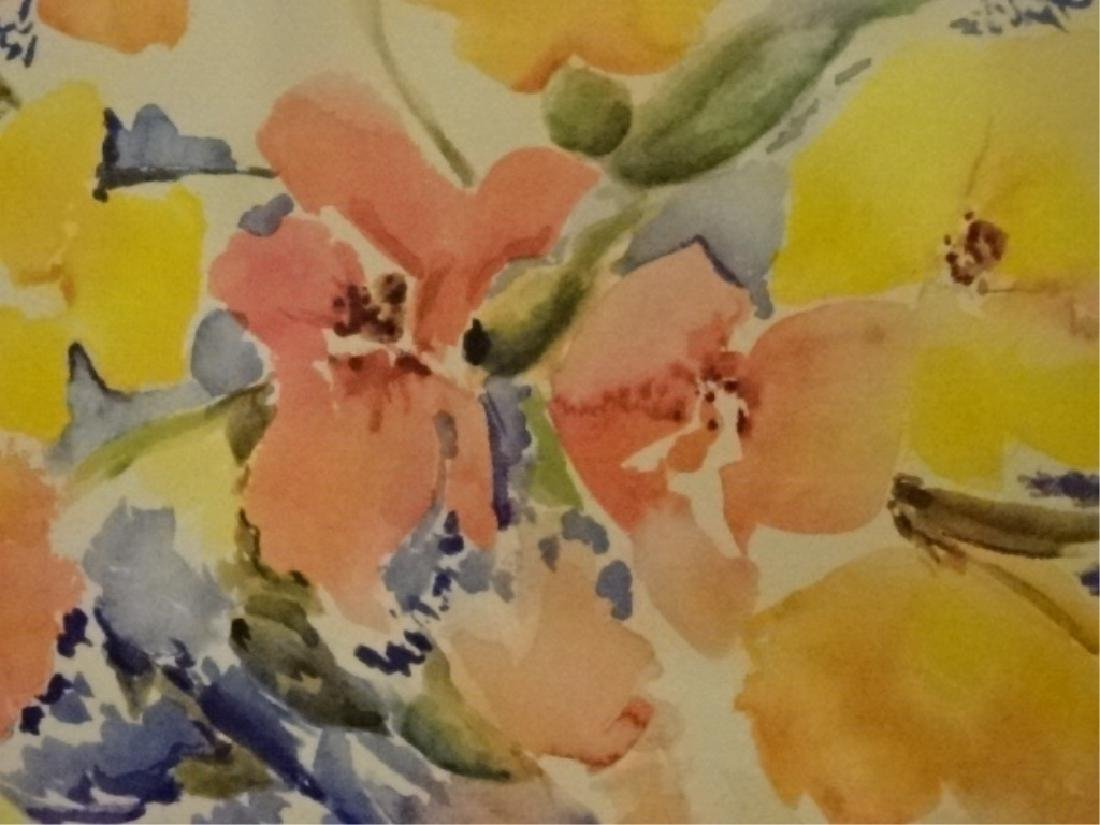 "FLORAL STILL LIFE LITHOGRAPH, PENCIL SIGNED ""TINA"" - 3"