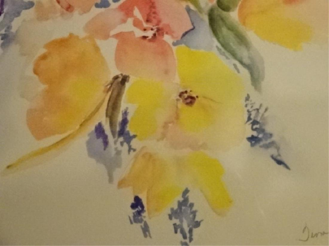 "FLORAL STILL LIFE LITHOGRAPH, PENCIL SIGNED ""TINA"" - 4"