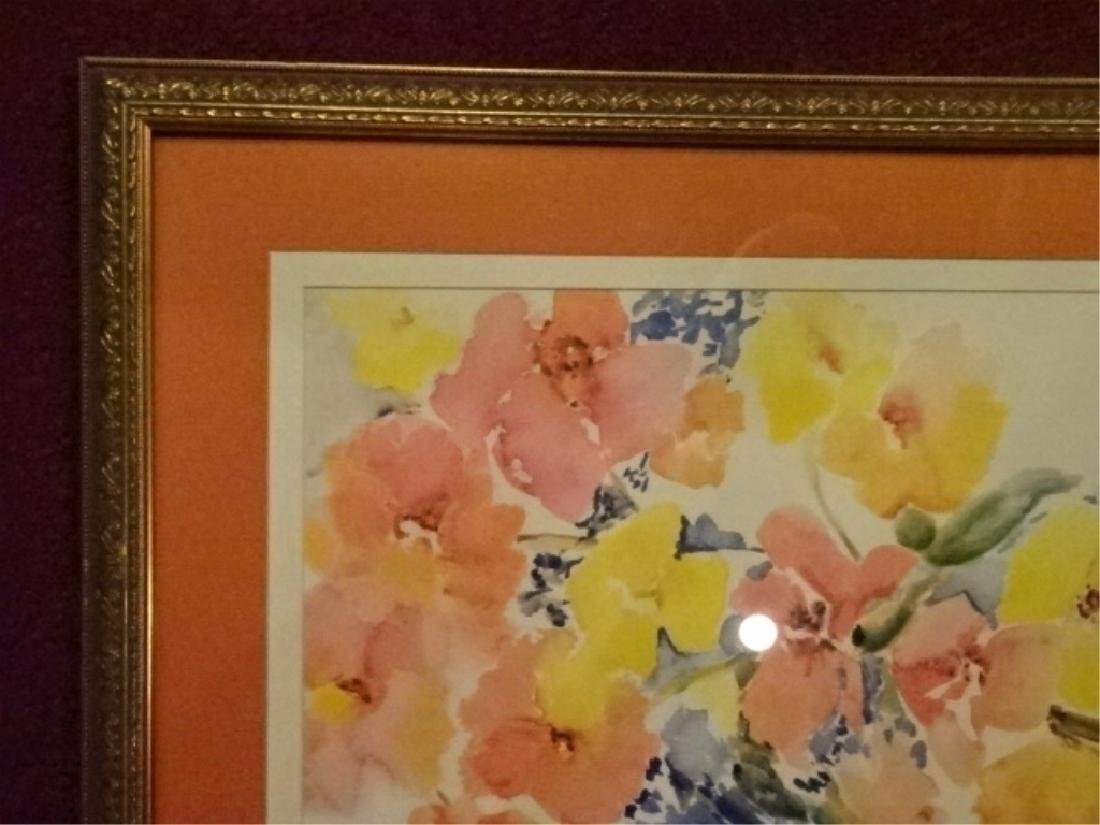 "FLORAL STILL LIFE LITHOGRAPH, PENCIL SIGNED ""TINA"" - 8"