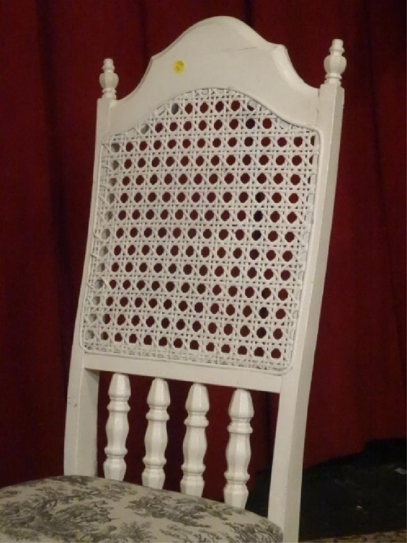 WHITE PAINTED SIDE CHAIR, TOILE BLACK AND WHITE - 2