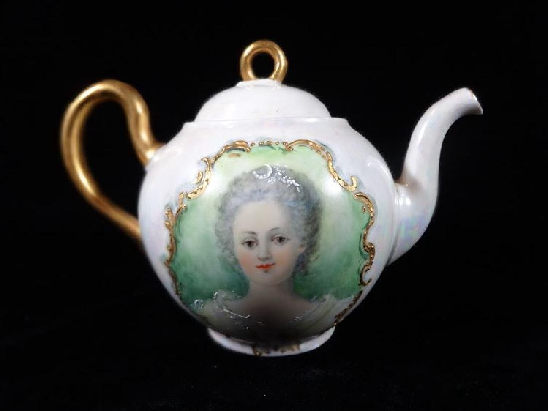 MARTIAL REDON LIMOGES PORCELAIN TEAPOT WITH LID, CIRCA