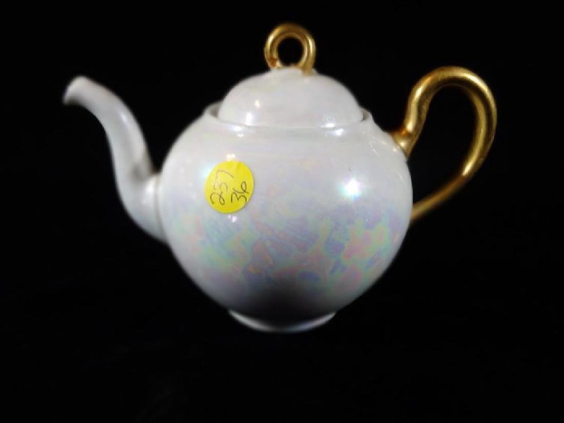 MARTIAL REDON LIMOGES PORCELAIN TEAPOT WITH LID, CIRCA - 4