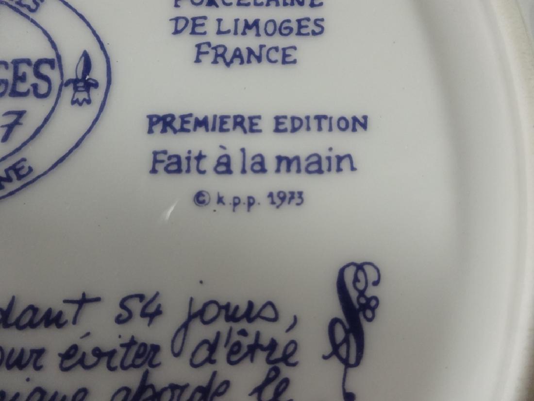 2 D'ARCEAU LIMOGES LIMITED EDITION PLATES, INCLUDES - 5