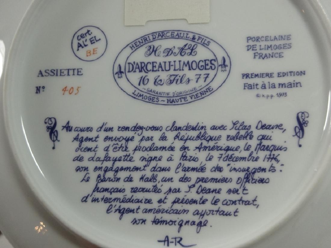 2 D'ARCEAU LIMOGES LIMITED EDITION PLATES, INCLUDES - 6