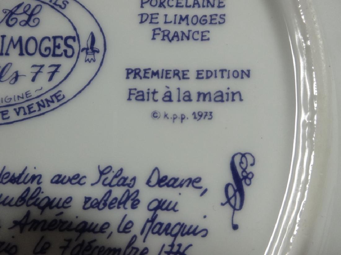 2 D'ARCEAU LIMOGES LIMITED EDITION PLATES, INCLUDES - 7