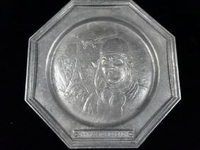 CHARLES LINDBERGH COMMERATIVE PEWTER PLATE BY