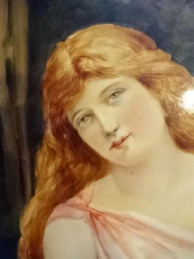 AUSTRIAN PORCELAIN PLAQUE CIRCA 1915, YOUNG LADY WITH - 4
