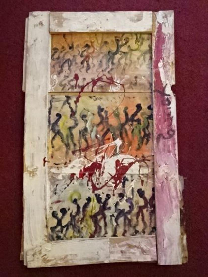 PURVIS YOUNG (1943-2010) OUTSIDER DANCING PAINTING ON