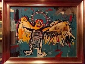 AFTER JEAN MICHEL BASQUIAT, OIL ON CANVAS REPRODUCTION