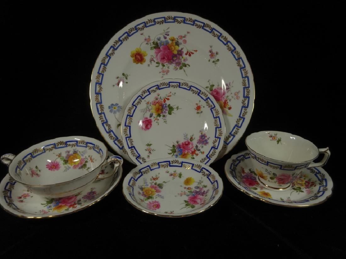 """84 PC ROYAL CROWN DERBY CHINA SERVICE, """"POSIES"""""""