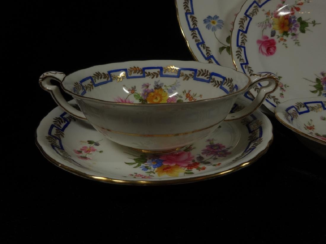 """84 PC ROYAL CROWN DERBY CHINA SERVICE, """"POSIES"""" - 2"""