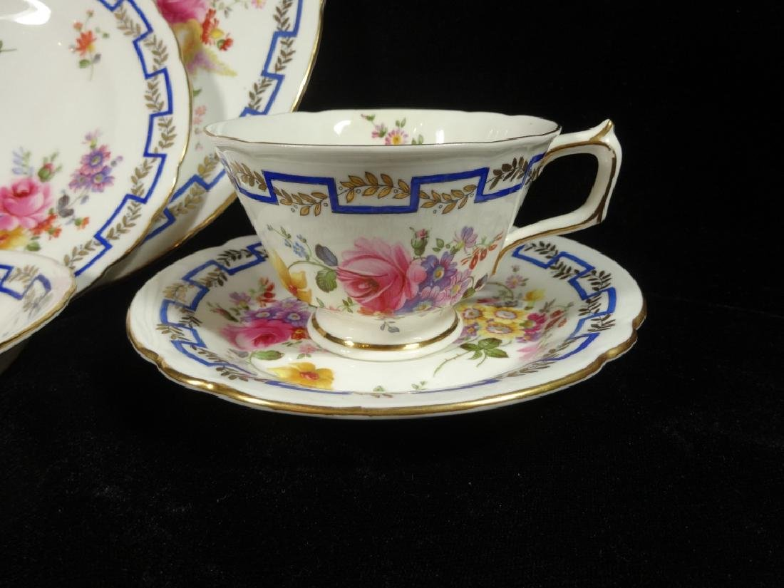 """84 PC ROYAL CROWN DERBY CHINA SERVICE, """"POSIES"""" - 3"""