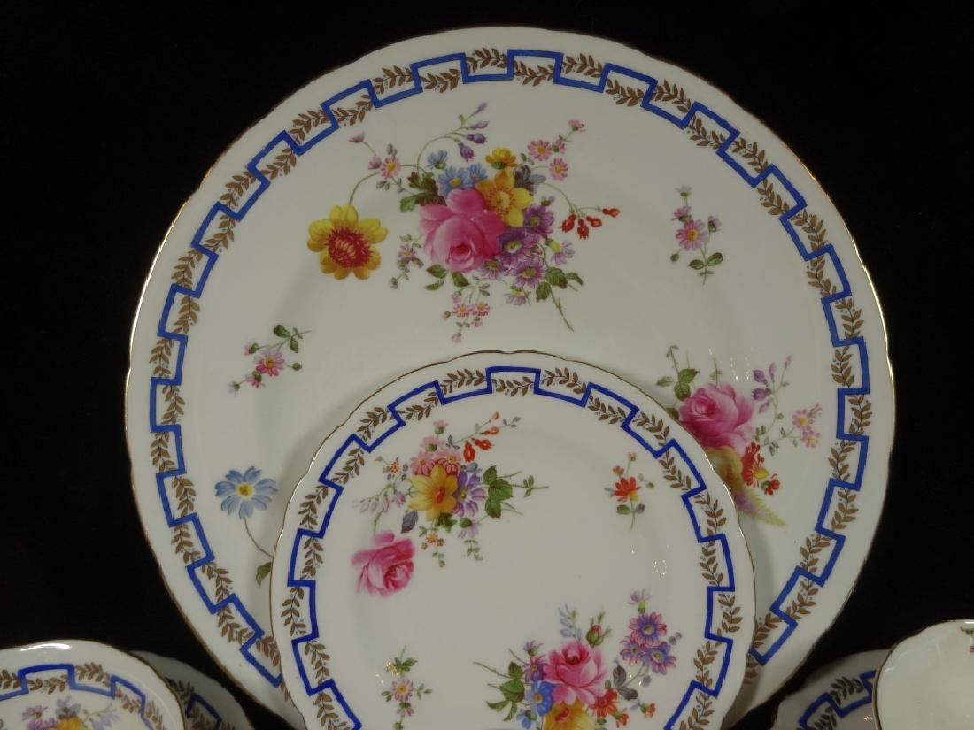 """84 PC ROYAL CROWN DERBY CHINA SERVICE, """"POSIES"""" - 4"""
