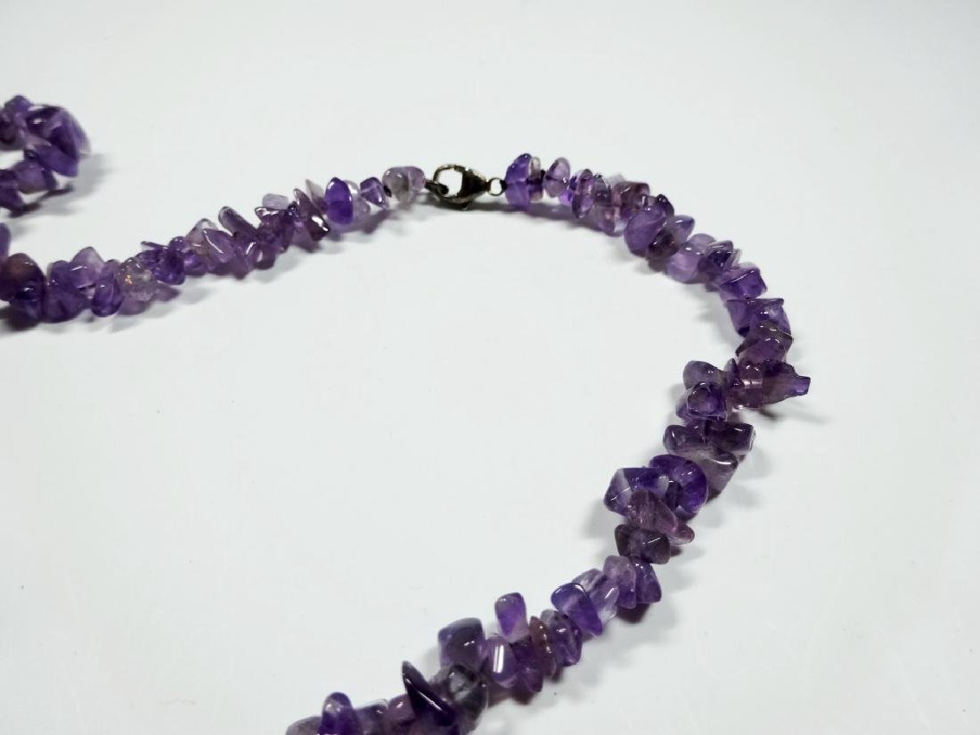 """AMETHYST BEAD NECKLACE, APPROX 38""""L - 4"""
