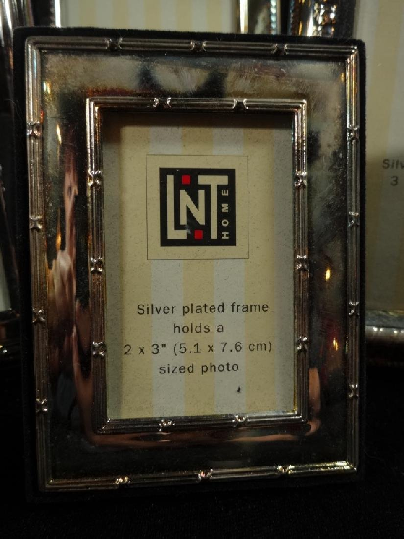 7 PC SILVER PLATE PICTURE FRAMES, TARNISHED, NOT - 3
