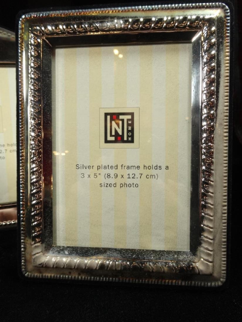 7 PC SILVER PLATE PICTURE FRAMES, TARNISHED, NOT - 7