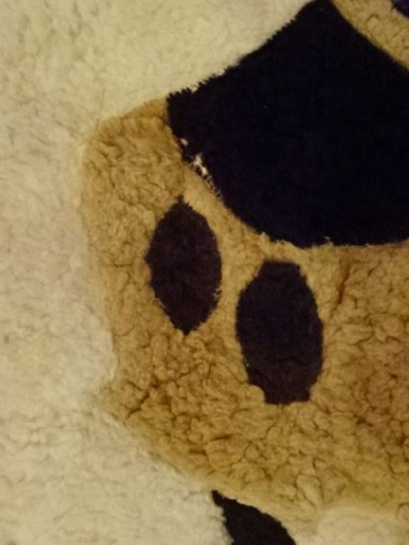 VINTAGE MICKEY MOUSE NATURAL WOOL RUG, VERY GOOD - 5