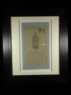 ANTIQUE ARCHITECTURAL DRAWING, CIRCA 1900, ROUEN,