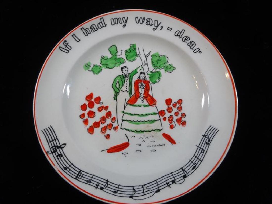 4 FONDEVILLE NEW YORK SONG PLATES, CIRCA 1940's, MADE - 2