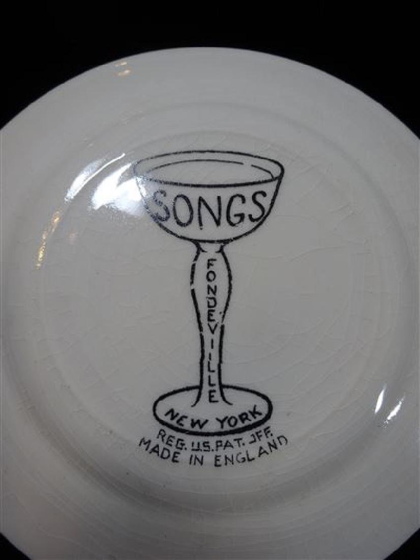 4 FONDEVILLE NEW YORK SONG PLATES, CIRCA 1940's, MADE - 4