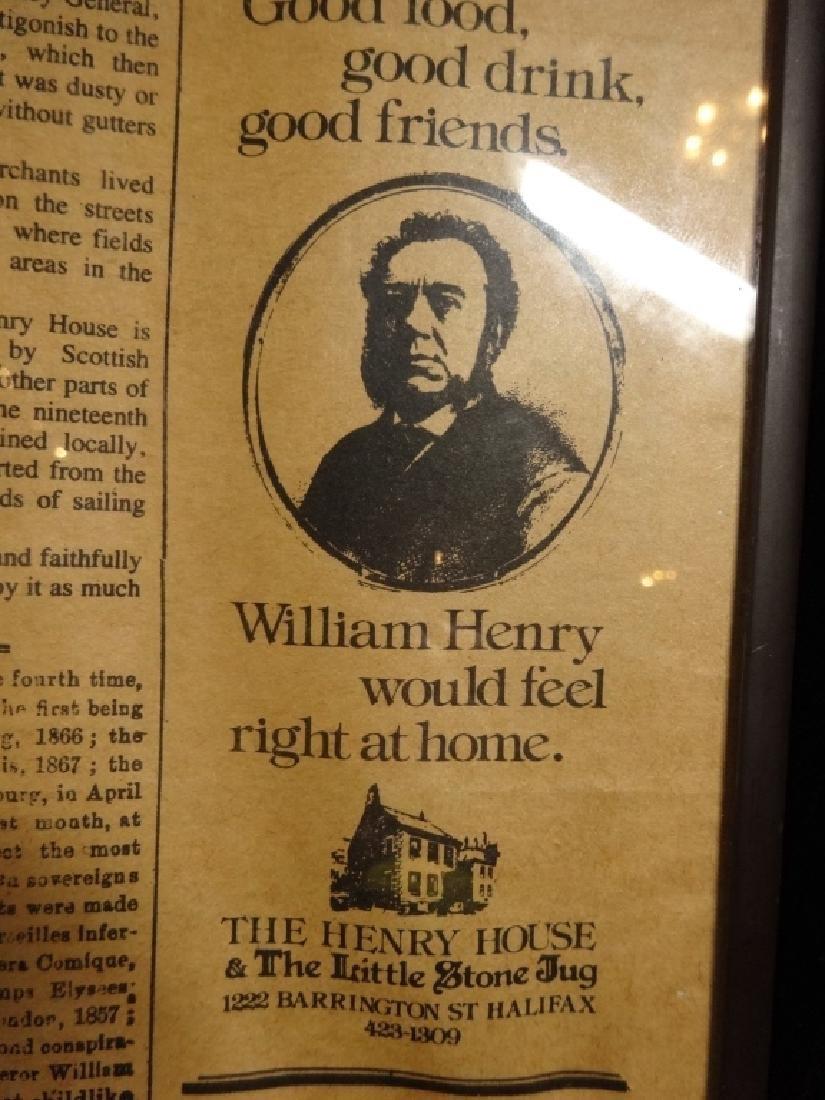 THE HENRY HOUSE & LITTLE STONE JUG PUB MENU, HALIFAX, - 7