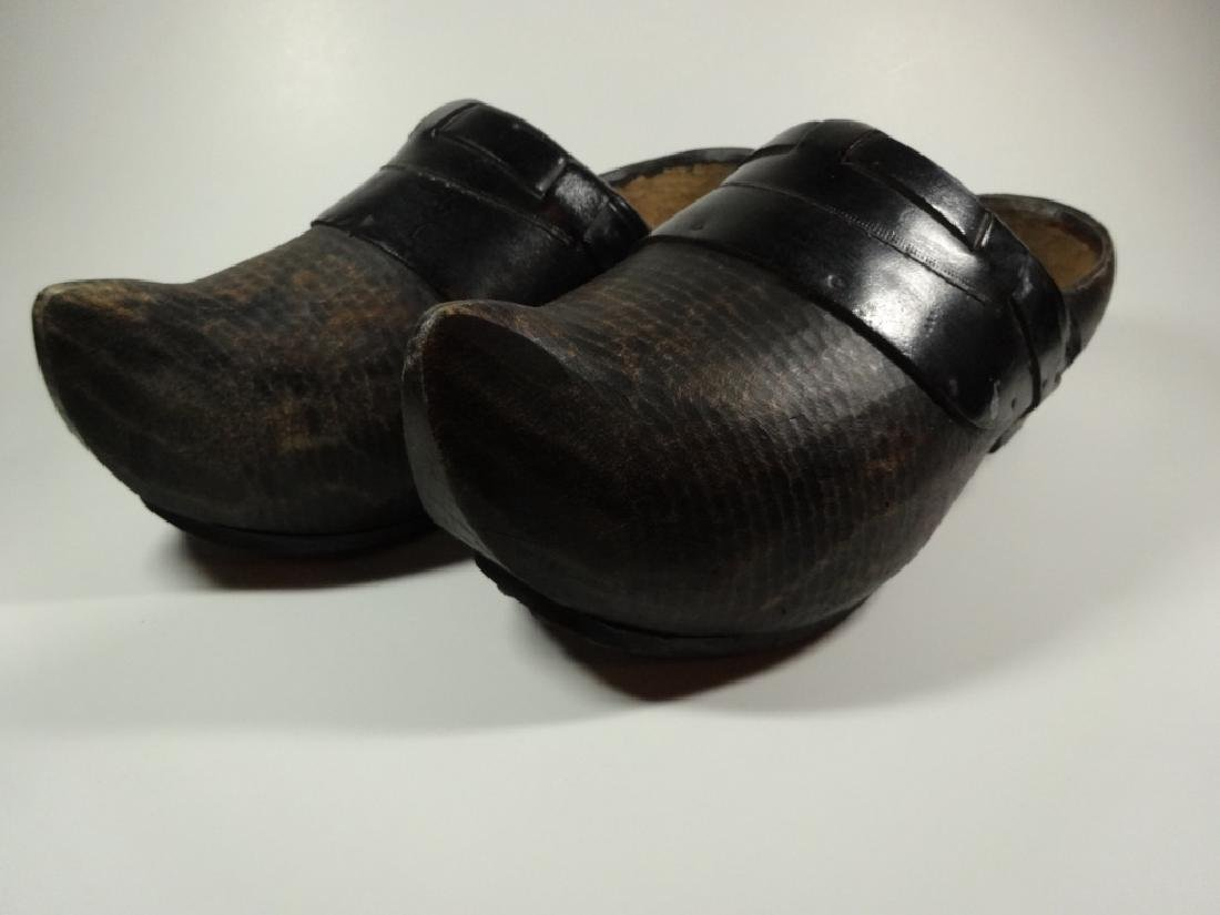 PAIR OF WOODEN CLOGS, CONTEMPORARY, FROM HOLLAND, WITH