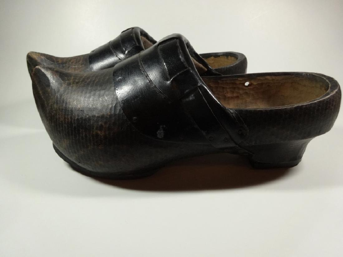 PAIR OF WOODEN CLOGS, CONTEMPORARY, FROM HOLLAND, WITH - 2