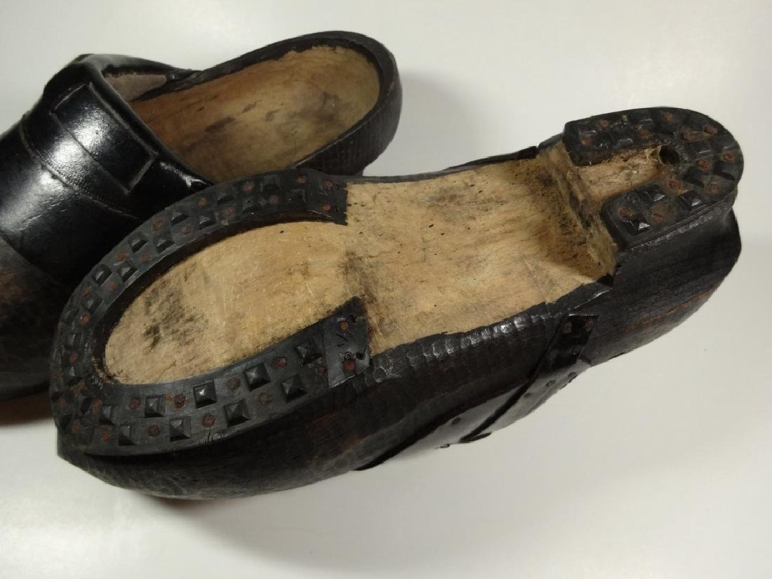 PAIR OF WOODEN CLOGS, CONTEMPORARY, FROM HOLLAND, WITH - 5