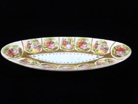ARNART PORCELAIN PLATE WITH COURTING COUPLES, VERY GOOD