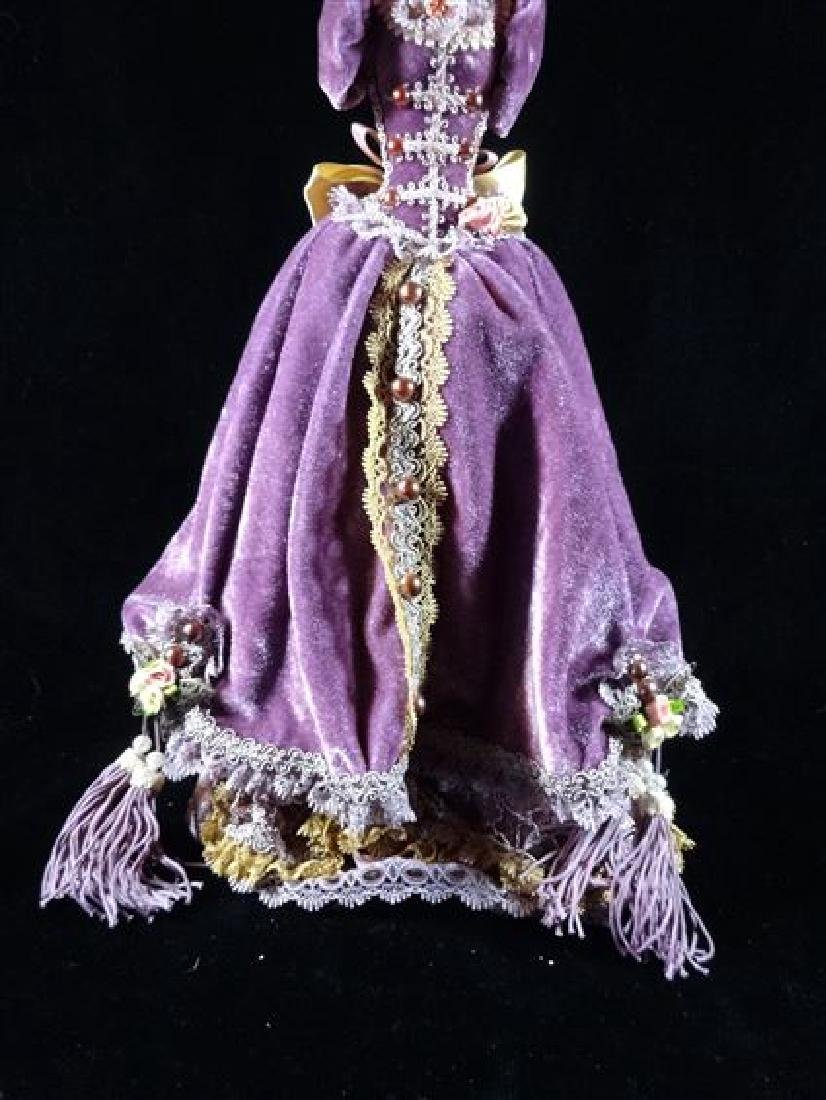 JEWELRY NECKLACE HOLDER, DRESS FORM IN PURPLE, VERY - 2